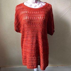 Dress Barn Loose Knit Shirt Sleeve Sweater 1XL